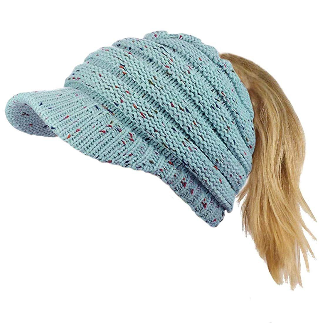Gorro De Lana Con Visera Confeti Azul Claro Para Mujer -   67.900 en ... 651ca847389