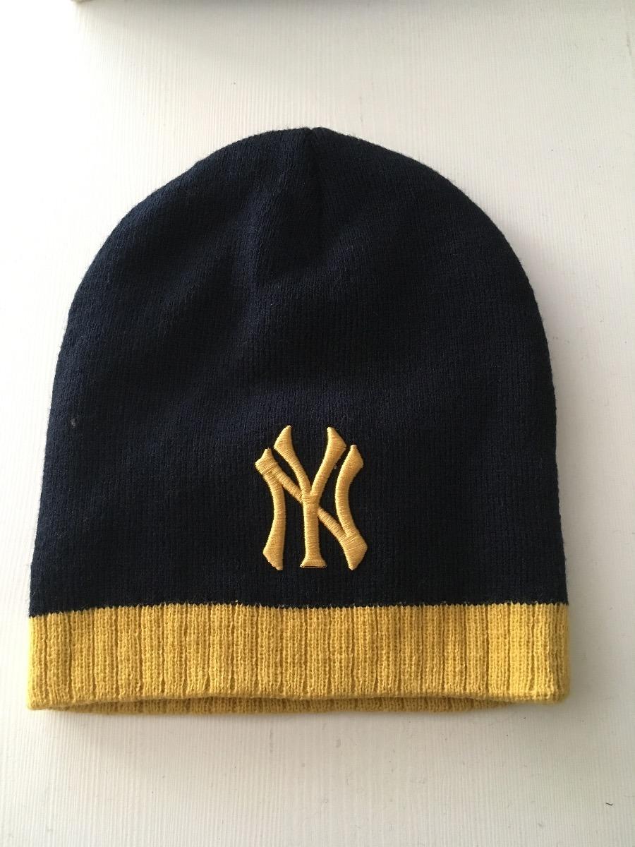 gorro de lana new york yankees negro con dorado. Cargando zoom. 5747ddf55f8