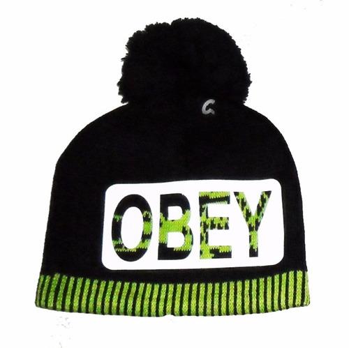 gorro de lana obey, dope, excelente calidad adolescentes