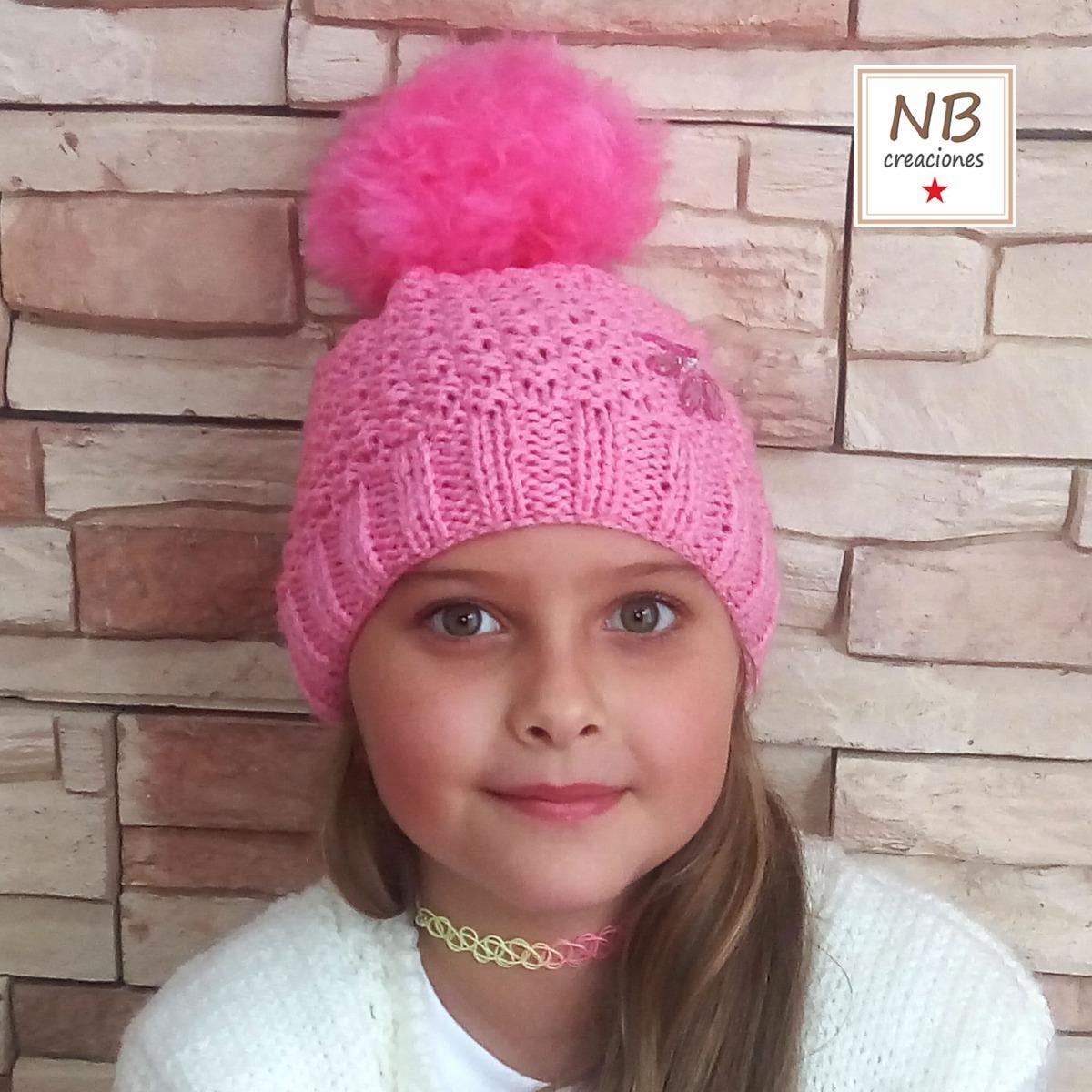 146f96fff72c7 gorro de lana para niñas con piedras bordadas. Cargando zoom.