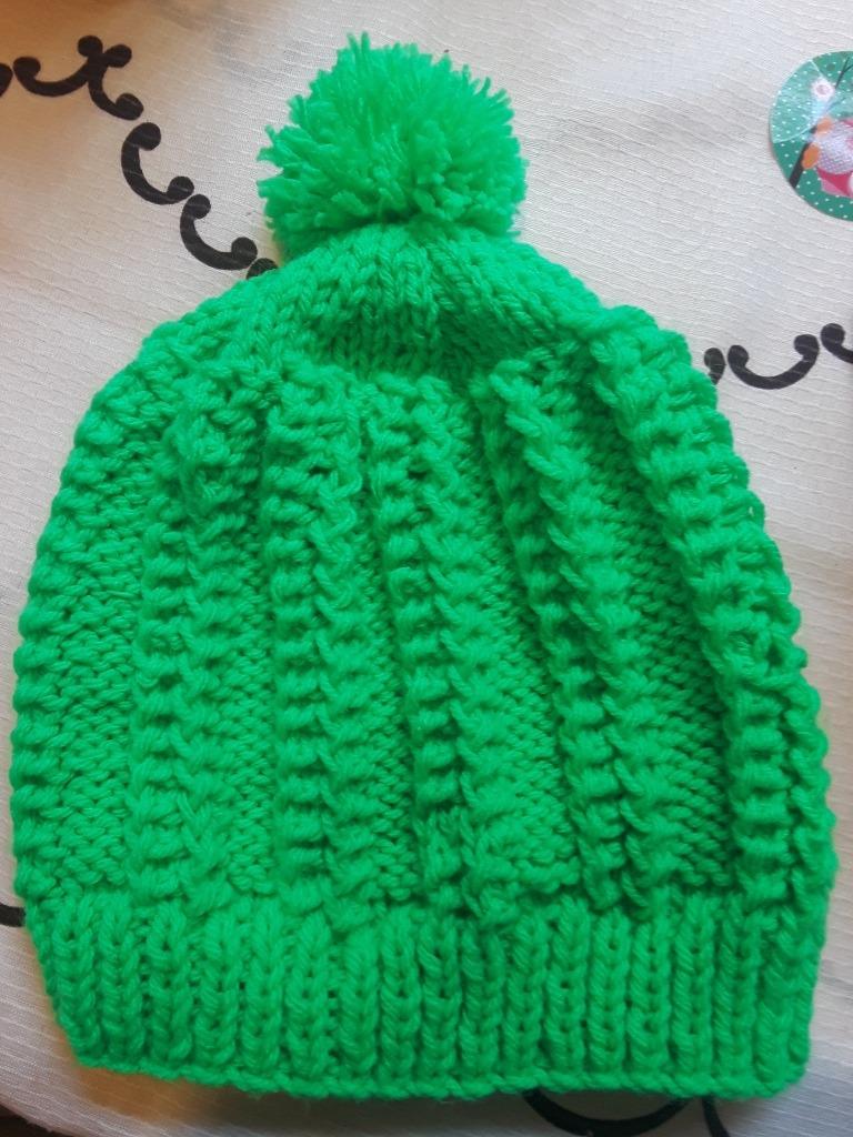 gorro de lana trenzado con pompon. Cargando zoom. 89719bdf1cb