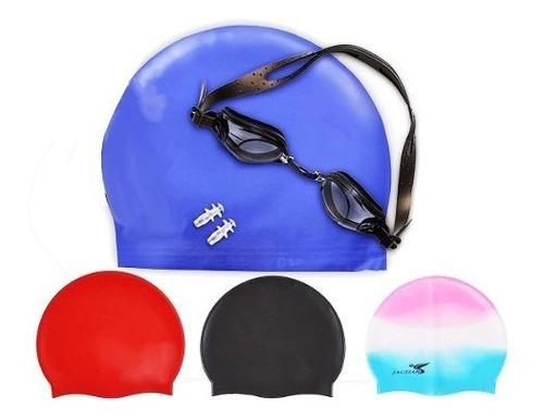 gorro de natación + gafas+tapa oídos piscina natación dq474