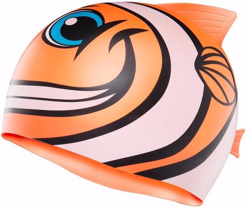 gorro de natacion tyr niños pez naranja