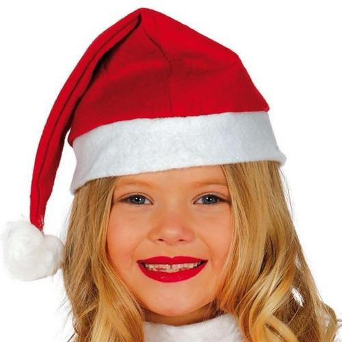 gorro de navidad color rojo fieltro 1 pieza