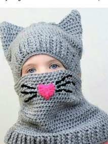 selección premium 9122c 5c0a4 Gorro De Personajes C/cuello A Crochet
