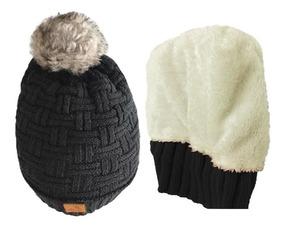018bedbe3799 Gorro Doble Largo Pompon Invierno Clima Frio Ropa Termica
