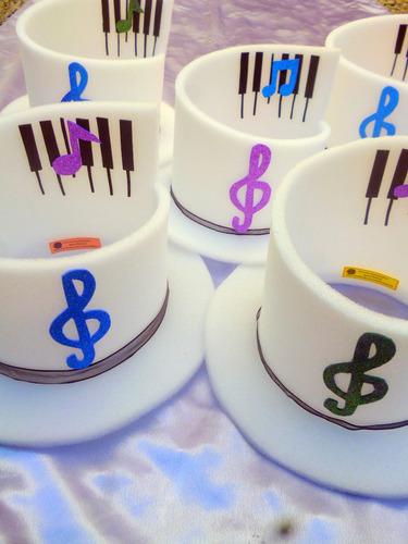 gorro en goma espuma piano fiestas, cotillón, 15 casamientos