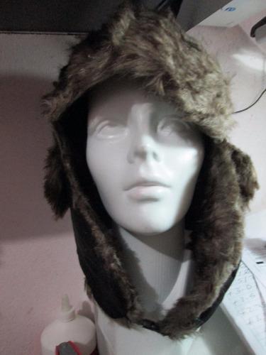 gorro frio extremo diseño ruso aborregado unitalla negro
