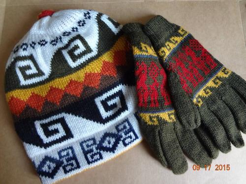 gorro + guantes de lana