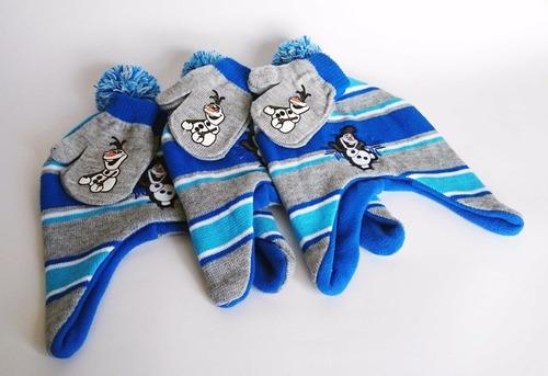 gorro + guantes de olaf frozen marca disney