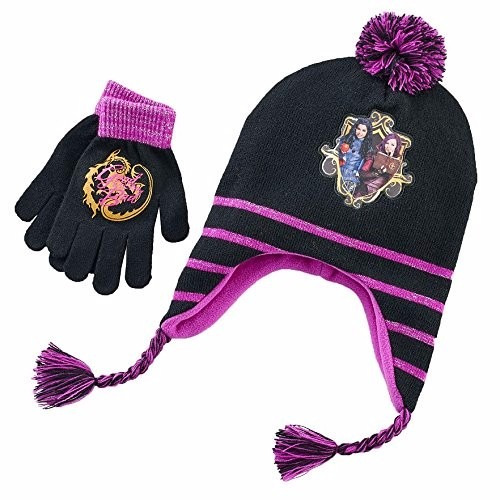 gorro, guantes invierno descendientes mal evie - cartersitos
