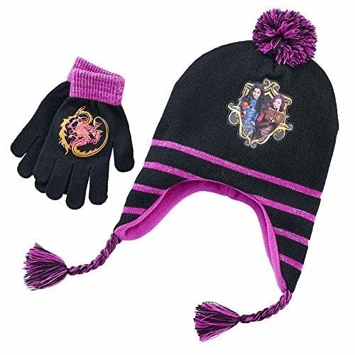 gorro + guantes invierno descendientes mal evie  importado!!