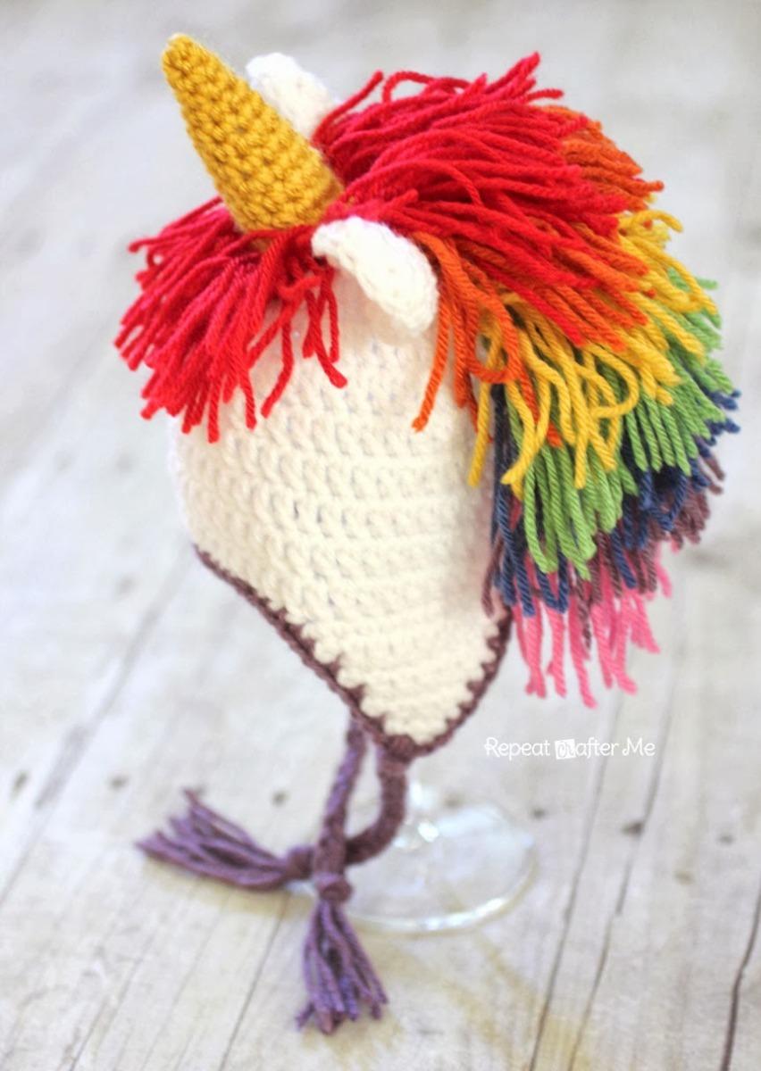 Gorro Hat Benie Crochet Unicornio Pony New Born Niños - $ 150.00 en ...