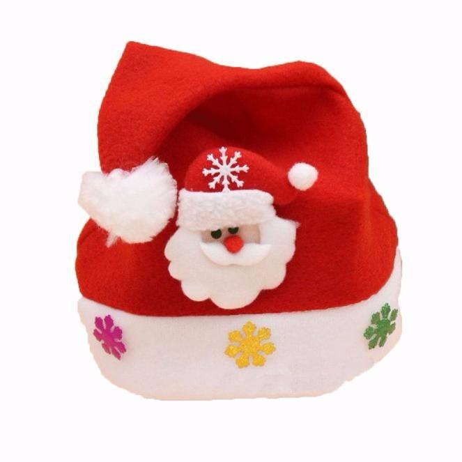 Gorro Infantil De Papai Noel Touca Para Natal Veludo - R  12 dc4c139aa56