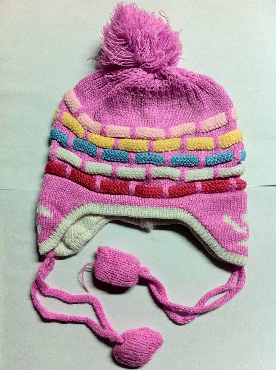gorro infantil lilás e colorido. Carregando zoom. f43f5083a6d