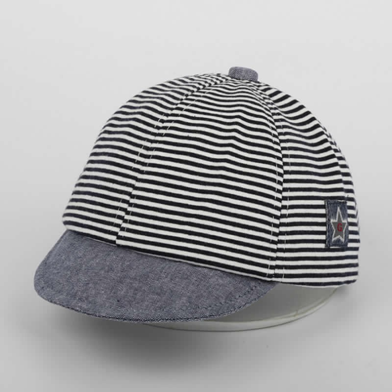 gorro jockey sombrero protección solar rayado bebés niños. Cargando zoom. 9f28c3178ab