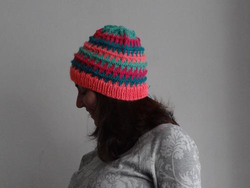 gorro joy de lana, accesorio invierno multicolor bariloche