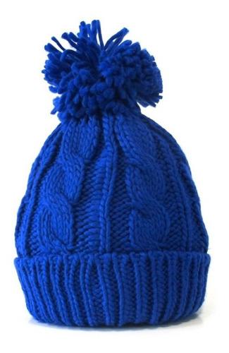 gorro lana sintética mujer invierno abrigo frío azul