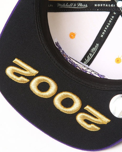 gorro - los angeles lakers 2002 nba finals - mitchell & ness