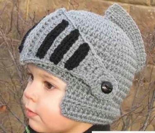 gorro medieval tejido bebes invierno crochet divertido