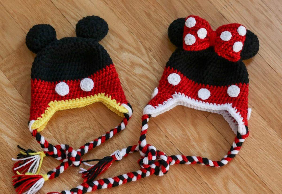 Fantástico Mickey Mouse Patrón De Sombrero De Punto Viñeta - Ideas ...