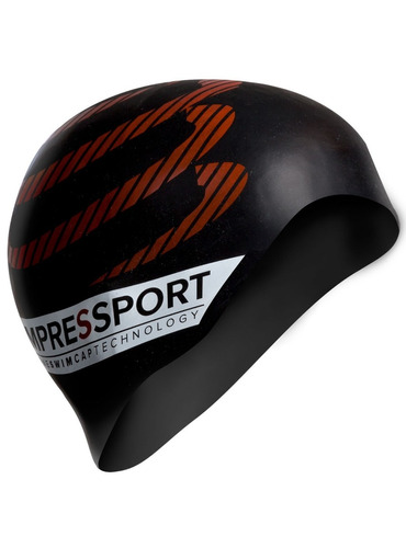 gorro natacion compressport negro
