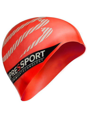 gorro natacion compressport rojo