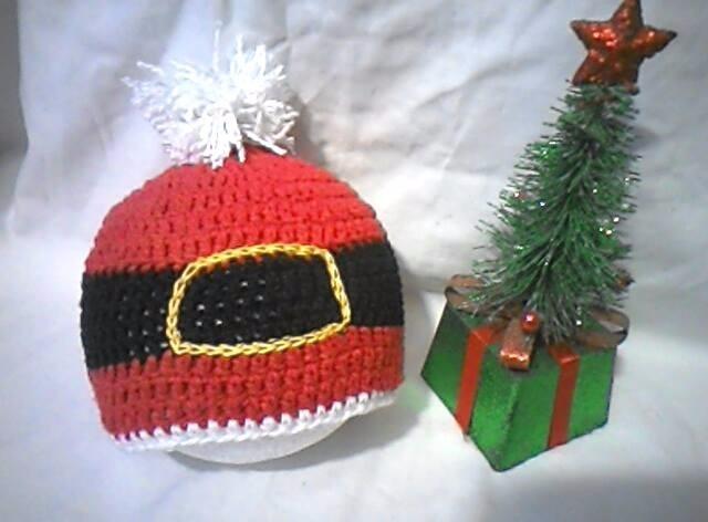 Gorro Navidad Santa Claus Disfraz Tejidos Bebe Hembra Varon - Bs ... 93f27decccb