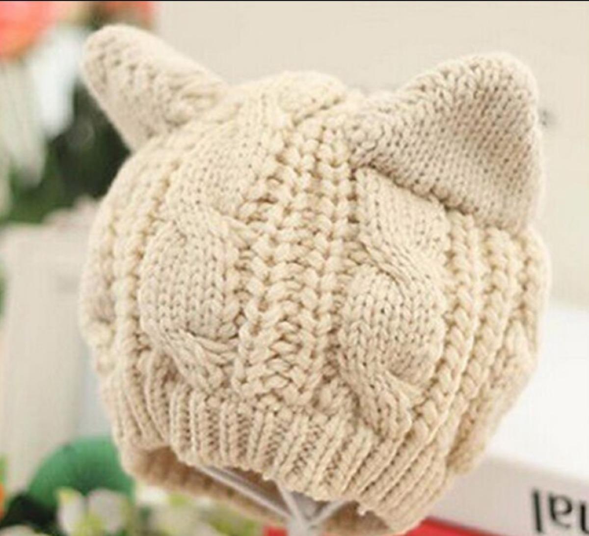 361488755 gorro orejas de gato tejido crochet cute kawaii mujer niños. Cargando zoom.