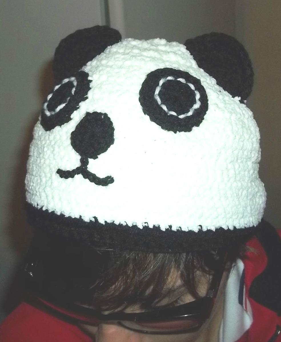 Gorro Oso Panda Tejido Al Crochet - $ 385,00 en Mercado Libre