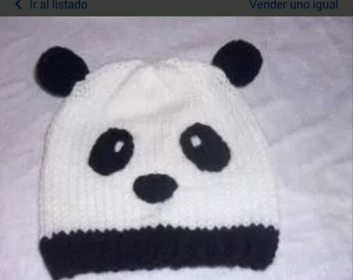 Gorro Panda Para Niños Tejido - $ 130,00 en Mercado Libre