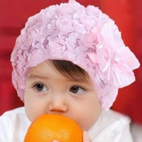 hermoso gorro de encaje para bebé niña 3 meses a 2 años · gorro para bebé 2ef0d51fdb4