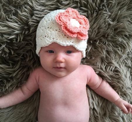gorro para bebe niña,hilo o lana,ropa y accesorios