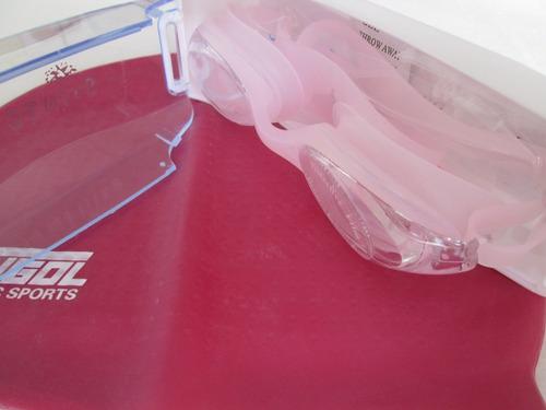 gorro para natación en silicona + gafas