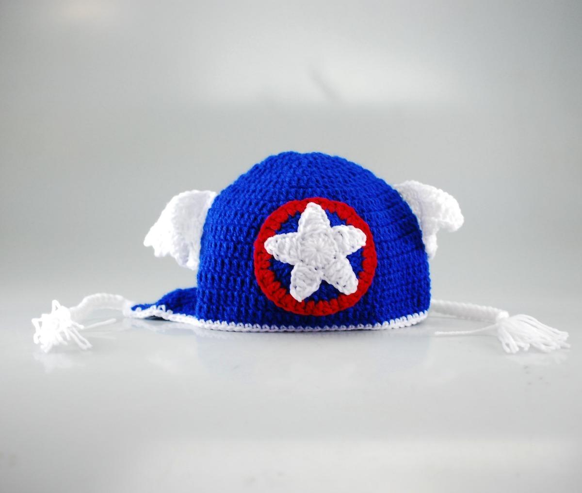 Gorro Para Niños Niño Super Heroe Capitán América Vengadores - Bs ...