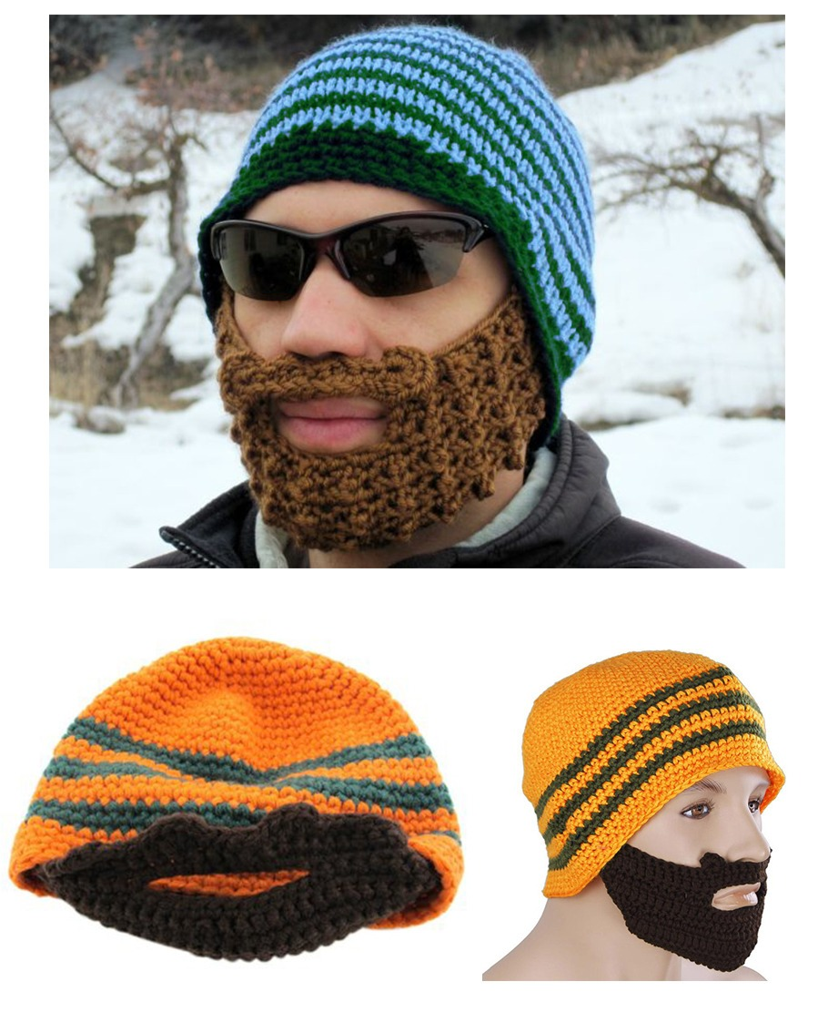 Contemporáneo Crochet Patrón Barba Beanie Componente - Patrón de ...