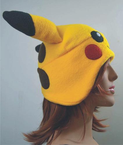 gorro pikachu cosplay kawaii del videojuego pokemon