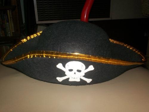 gorro pirata disfraz para niño en perfecto estado
