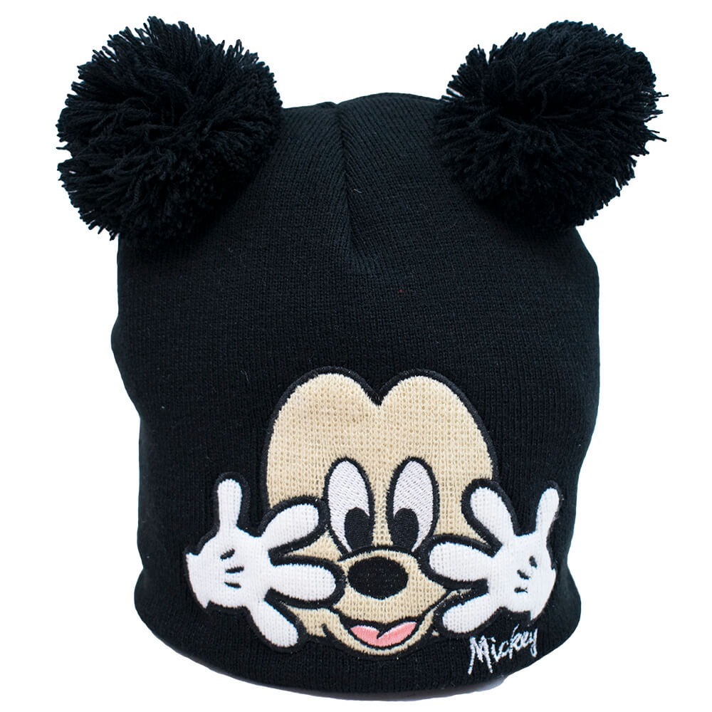 Gorro Preto Mickey Pompom 21x22cm - Disney - R  51 786300c72ee