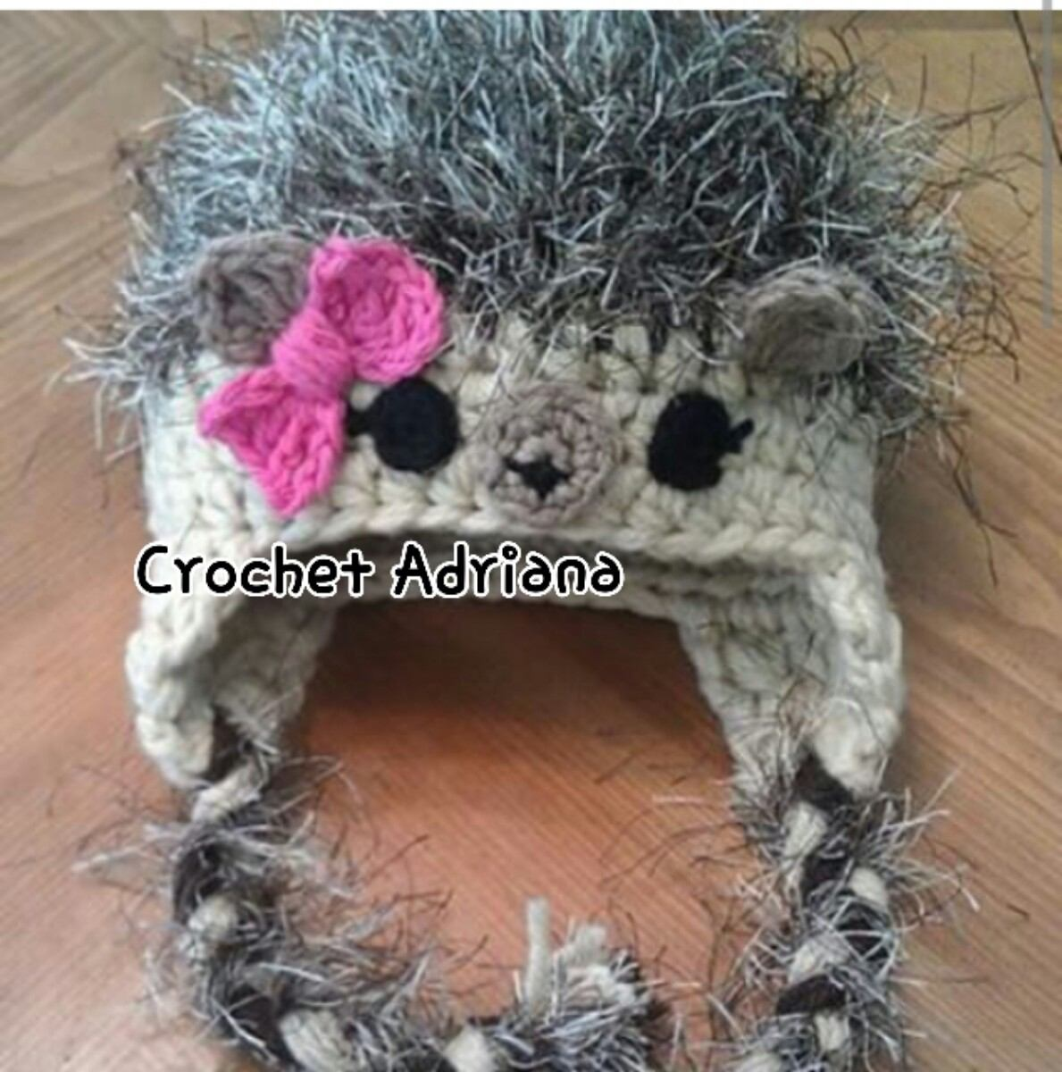 Gorro Puercoespin Tejido Crochet Bebé - $ 240.00 en Mercado Libre