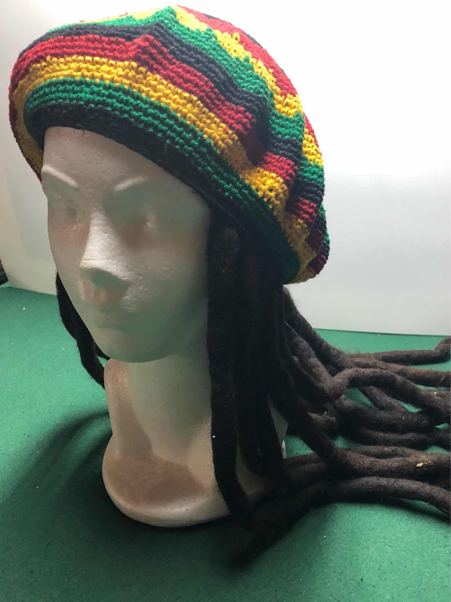 7dae252158183 Gorro Rastafari Con Rastas Jamaica -   389.00 en Mercado Libre