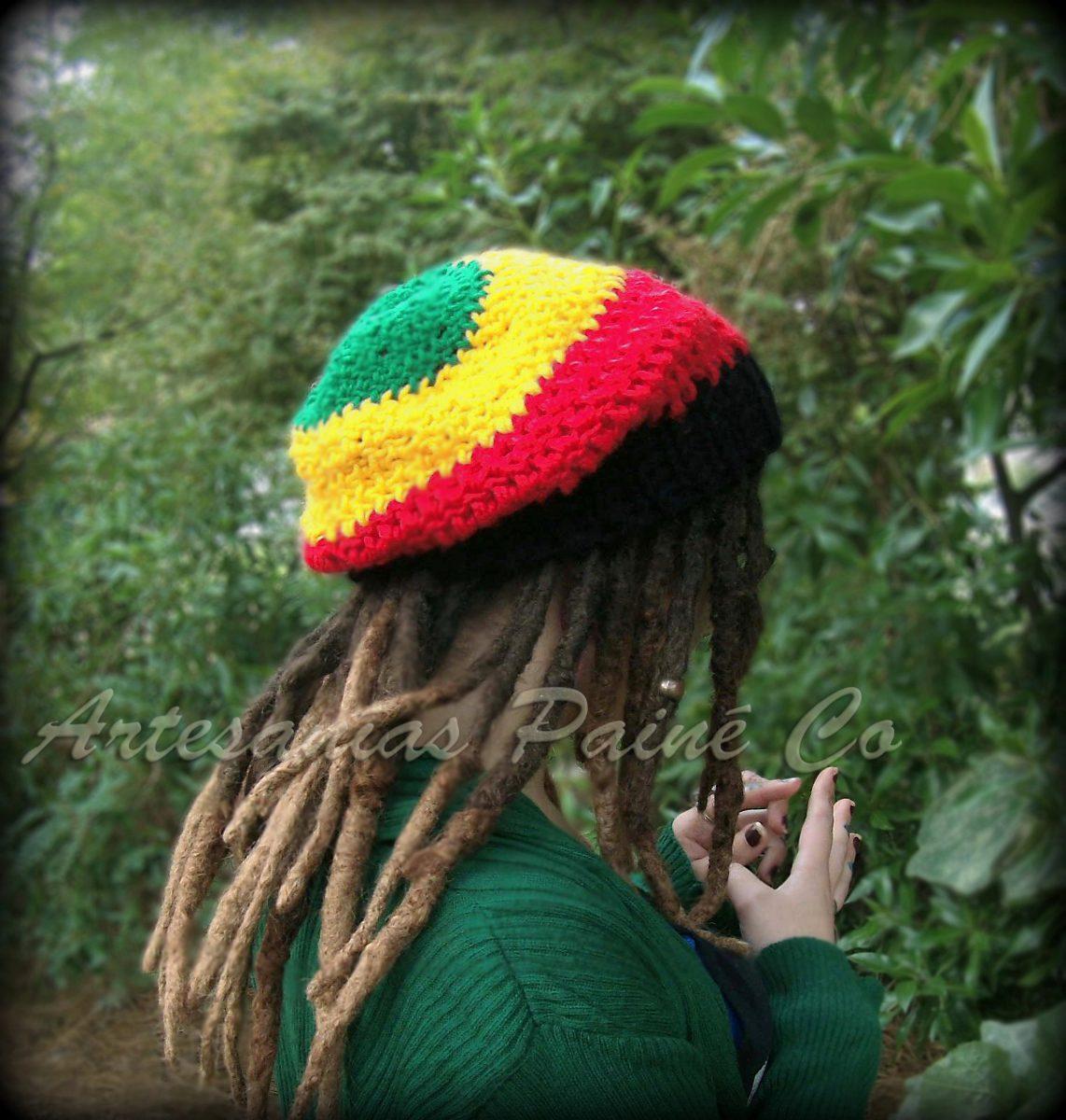 df3f4b03c931a Gorro Rastafari Tejido A Crochet. Artesanal!! -   300
