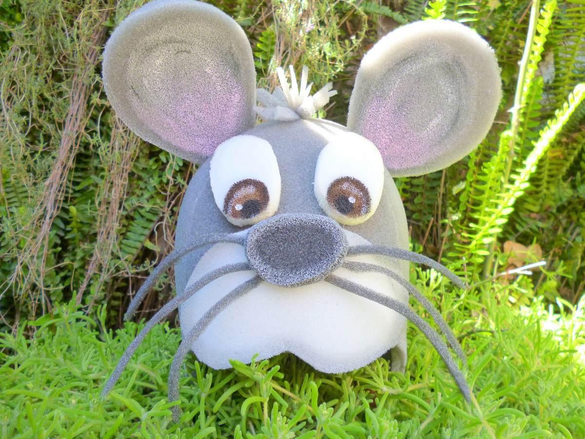 e3a82ddc83c Gorro Ratón Rata Disfraz Animales Goma Espuma Cotillón -   370