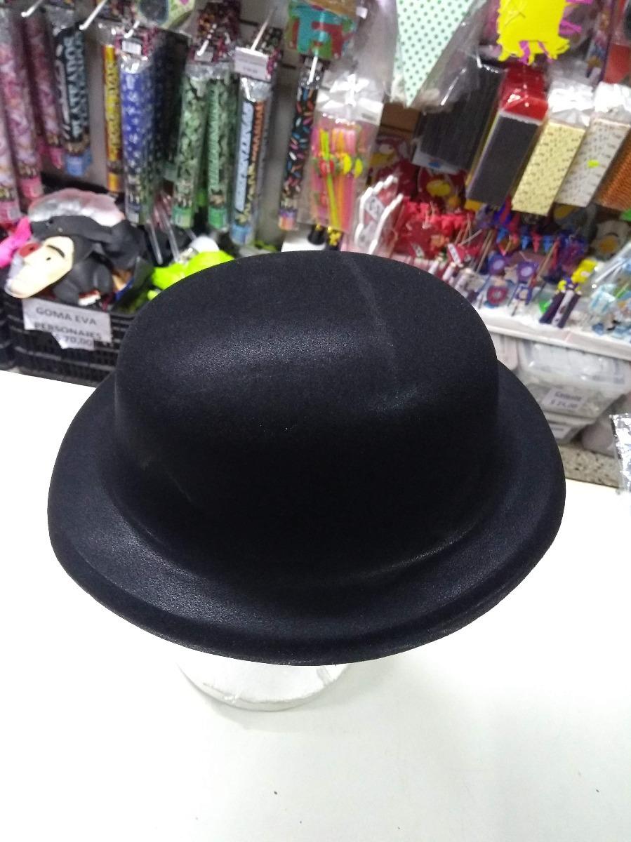 gorro sombrero bombin chaplin plastico afelpado cotillon. Cargando zoom. 229c22776f2