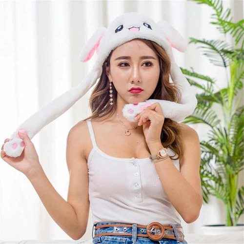 gorro sonbrero niñas conejo orejas movibles suave termico