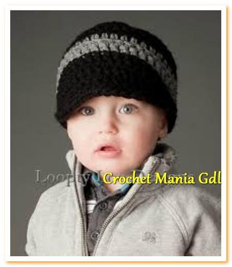edb2d9b3244a0 Gorro Tejido A Crochet Con Vicera Para Niño -   100.00 en Mercado Libre
