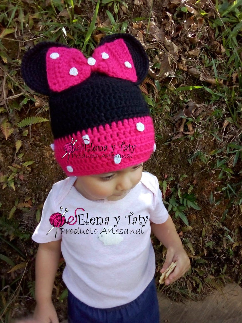 53a2d7555 gorro tejido a mano crochet mickey y minnie bebe niño niña. Cargando zoom.