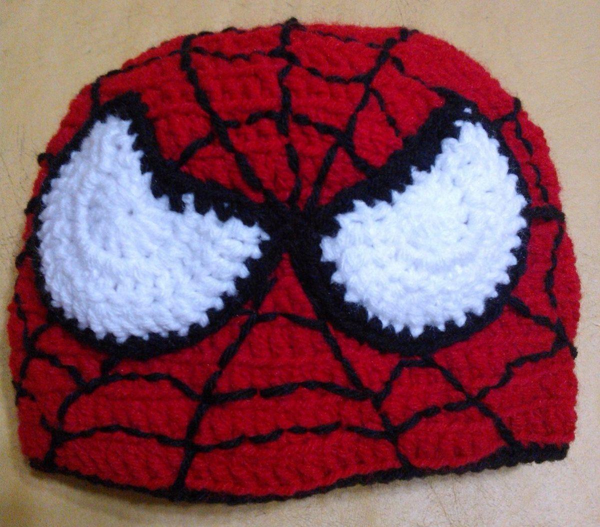 Gorro Tejido Crochet Spider Man - Ropa y Accesorios en Mercado Libre ...