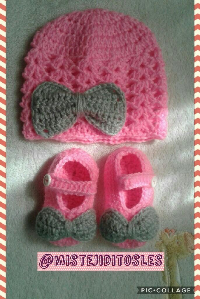 ea40ae76d gorro tejido crochet bebe niña niño adulto zapatilla bota. Cargando zoom.