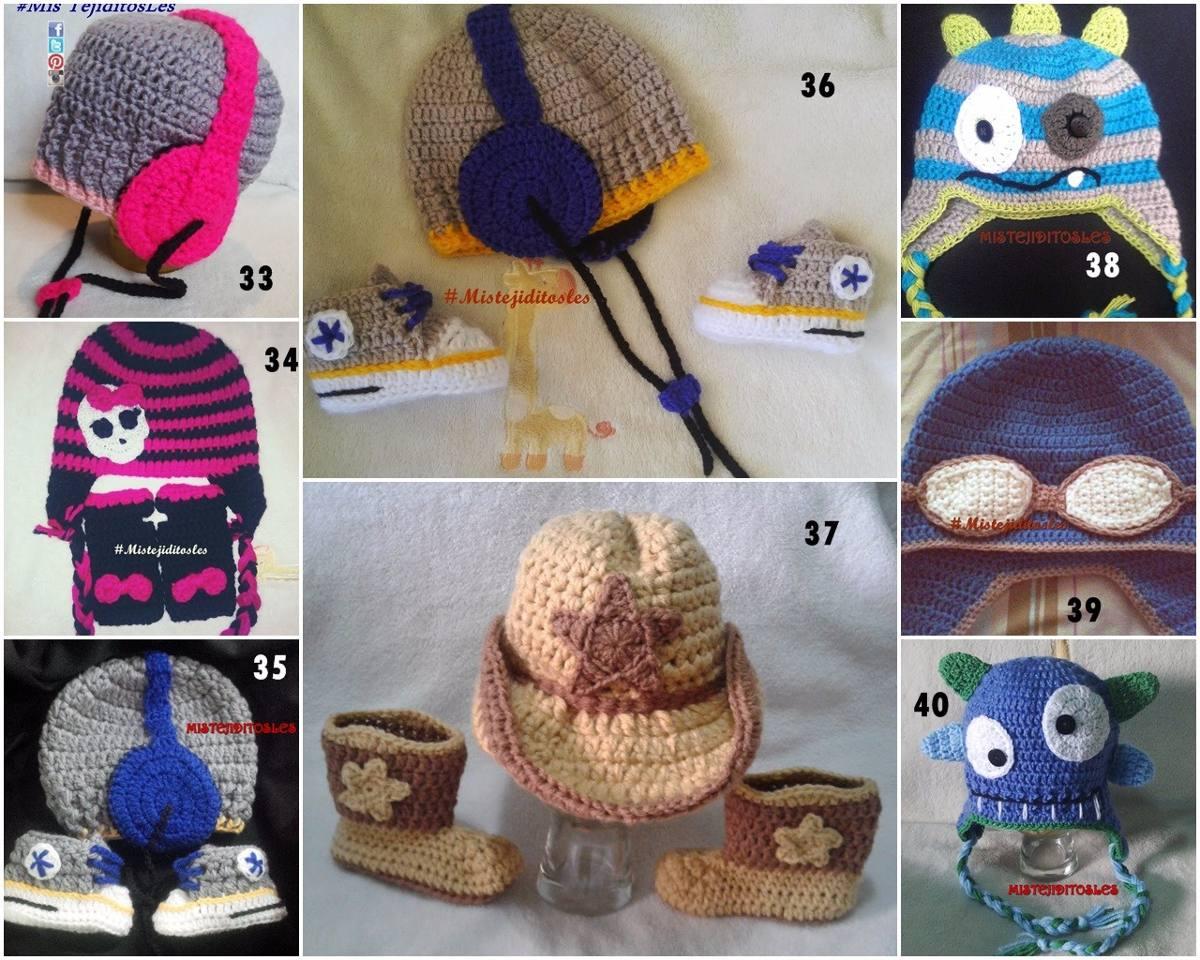 gorro tejido crochet bebe niña niño adulto zapato bota. Cargando zoom. 4679ecb8605